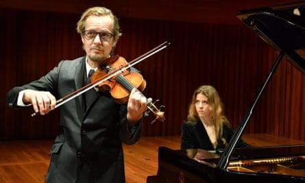 Richard Tognetti with Polina Leschenko at Milton Court, London.
