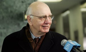 Paul Volcker, former head of the Fed, in 2005