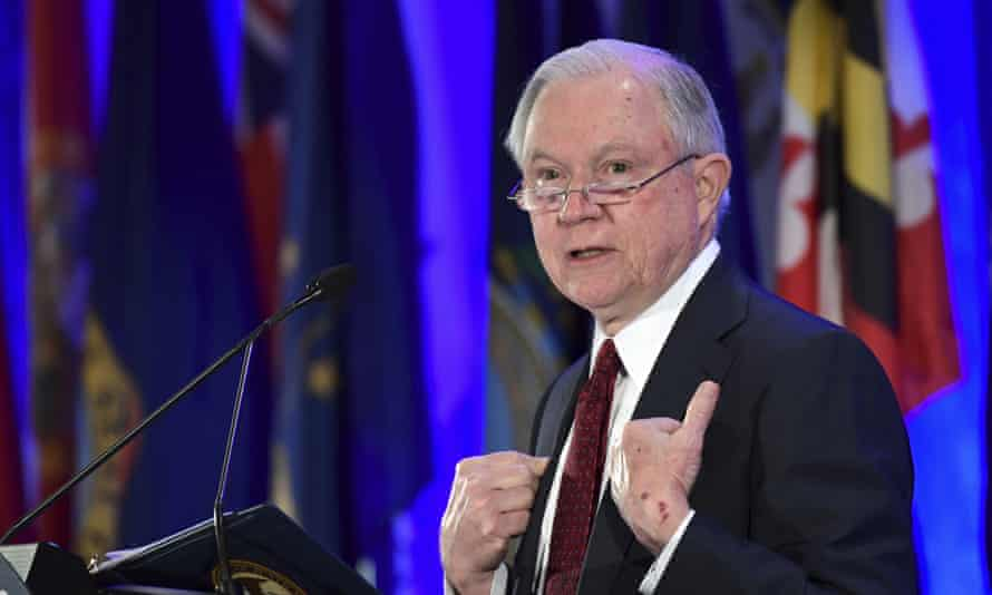 The attorney general, Jeff Sessions, delivers remarks to the National Association of Attorneys General at their Winter Meeting in Washington on Tuesday.