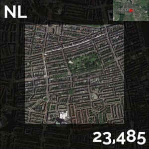 NL - population density maps - amsterdam
