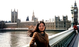 Xiaolu Guo as a new arrival in London in 2002, visiting the Houses of Parliament.