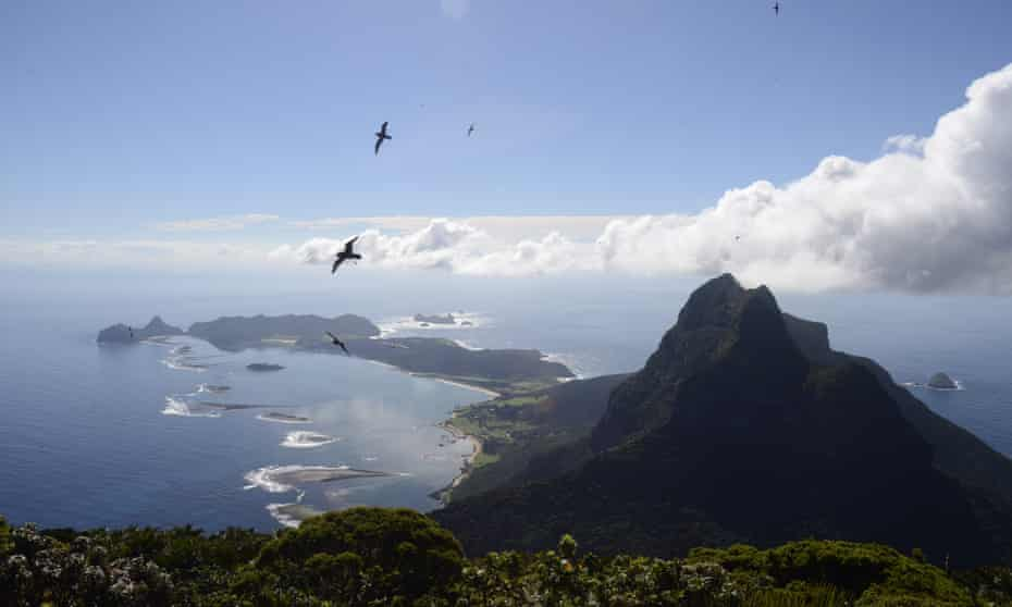 The view from the top of Mount Gower on Lord Howe Island