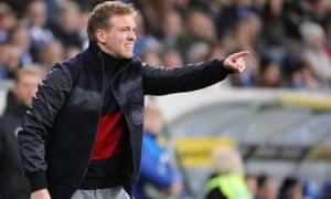 Hoffenheim's head coach Julian Nagelsmann directs his team.