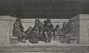 Asleep Under the Stars (1890) from Gustave Doré's and Blanchard Jerrold's Doré's London: London, a Pilgrimage. Photograph: © The British Library Board.