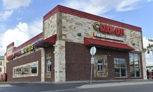 The exterior of the Cook Out restaurant where Trinity Gay, the 15-year old daughter of  Tyson Gay was shot