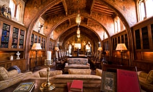 The gothic-style dining room at Hearst Castle.