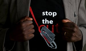 The logo of a T-shirt that reads 'Stop the Cut'