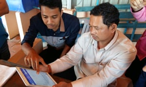 CommCare being used in Cambodia to support and train local entrepreneurs on how to distribute affordable clean drinking water to their communities.