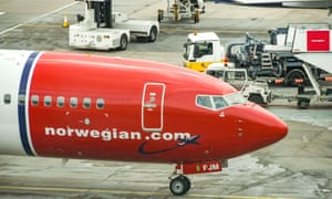 A Boeing 737 operated by Norwegian Air at Gatwick airport