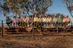 The crew from Iffley Station. The station is a 405,000ha property in Queensland's gulf country.