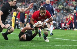 Faletau goes over for the try.