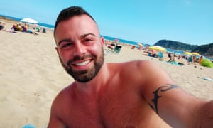 Alejandro Castrillo, pictured on the beach, said he was focused on enjoying the rest of his holiday, before 'real quarantine' at home in London.
