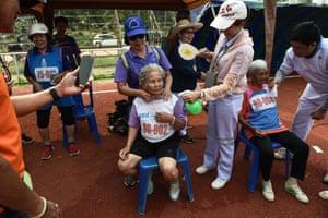 Duangpee Sansing, the 81-year-old winner of a 400-metre race