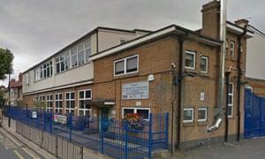St Winefride's Catholic primary school in Newham, east London.
