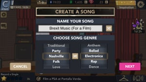 Glu may have some moderation to do for player-created song titles.