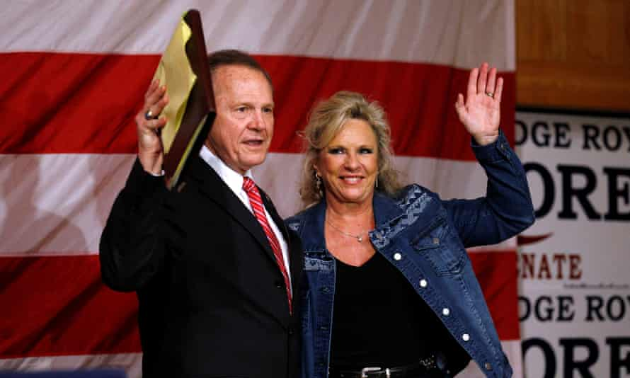 Roy Moore and his wife, Kayla