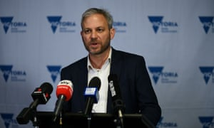 Brett Sutton speaks at today's Covid press conference in Melbourne