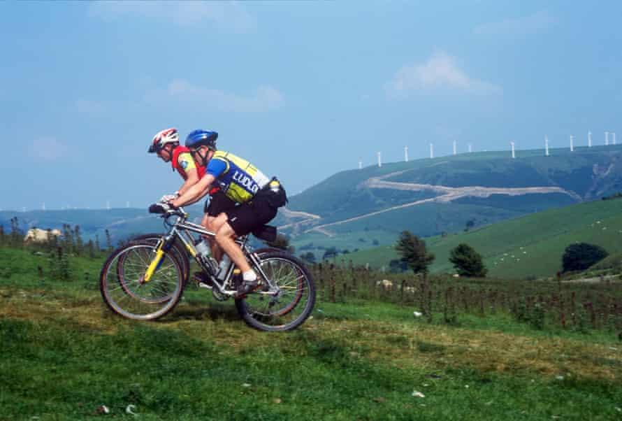 Mountain Biking Glyndwrs Way Beacon Hill Machynlleth Mid Wales