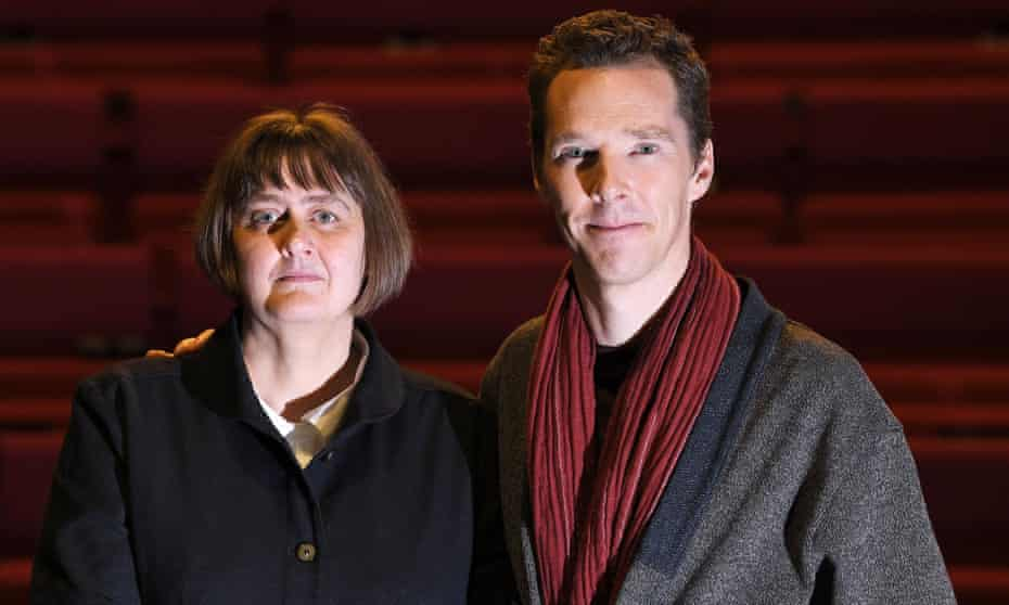 Sarah Frankcom, the new director of London Academy of Music and Dramatic Art, with Benedict Cumberbatch.