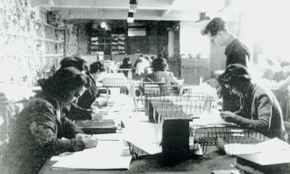 Code-breaking personnel at Bletchley Park, 1943
