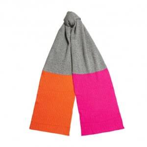 "£225, <a href=""http://www.chintiandparker.com/uk/colour-block-rib-scarf-ae05gm1"">chintiandparker.com </a>"