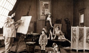 Baby Peggy, centre, in The Flower Girl, 1924.