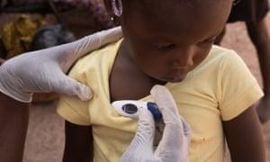 A child at a clinic in Bamako, Mali.
