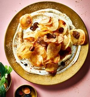 Nicola Hordern's crisps with Italian autumn truffle and creme fraiche.