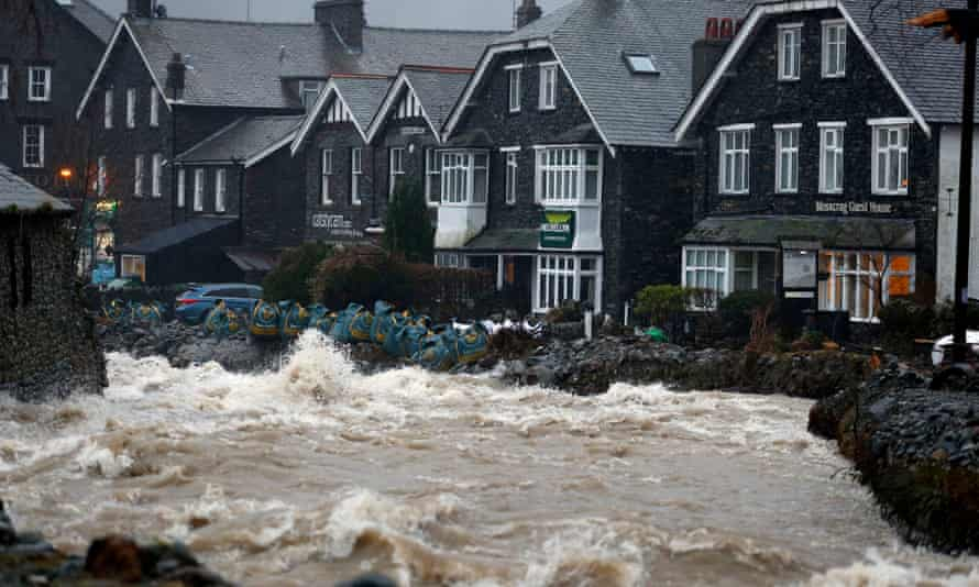 Flooding in Glenridding, Cumbria, last December.