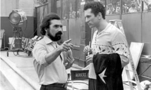 Movie immortality ... Martin Scorsese, left, and Robert De Niro on the set of Raging Bull.