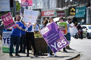 Campaigners take to the streets of the Irish capital