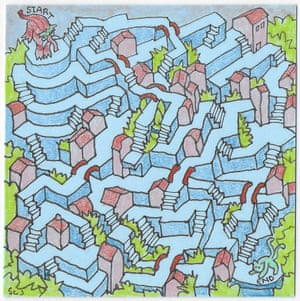 Mazes drawn by New York based artist Sean C Jackson.