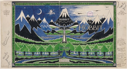 Dust jacket of The Hobbit by JRR Tolkien.
