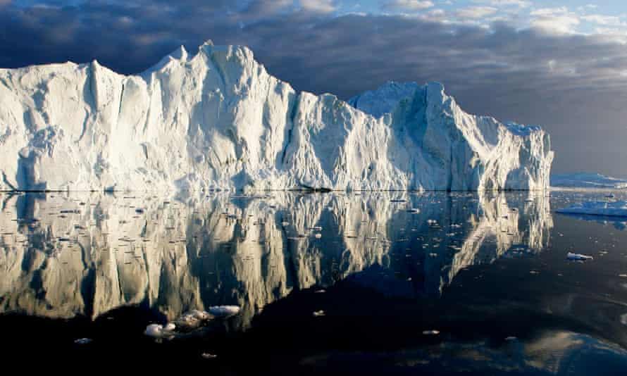 Icebergs in Jakobshavn fjord, Ilulissat, Greenland