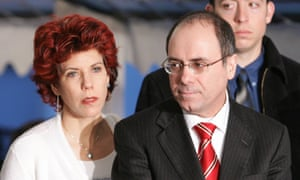 Israeli Foreign Minister Silvan Shalom and his wife Judy Shalom Nir-Mozes