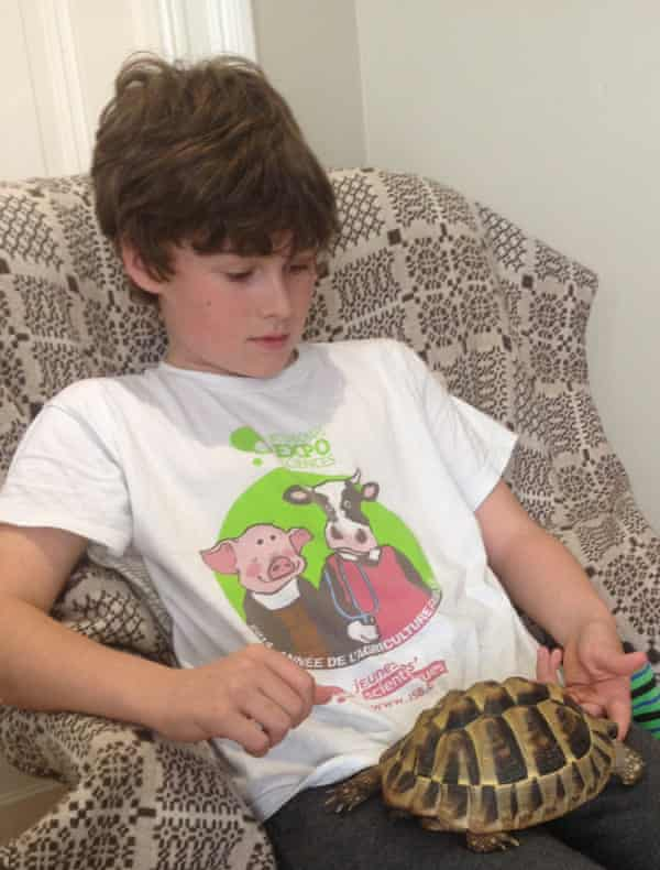 Louis and tortoise.