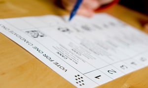 a postal voting form