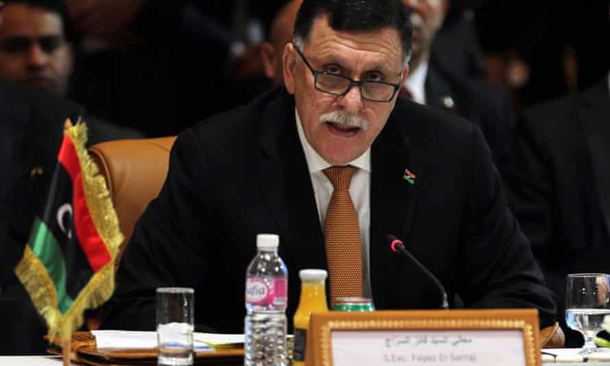 The Libyan prime minister, Fayez al-Sarraj, in March 2016.