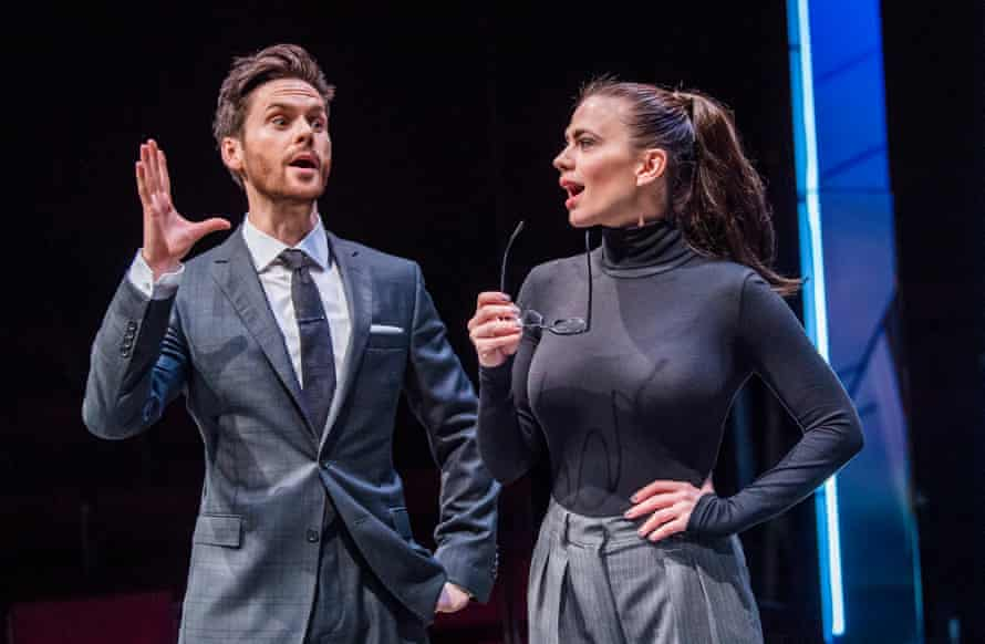 Tom Riley and Hayley Atwell in Dry Powder at the Hampstead