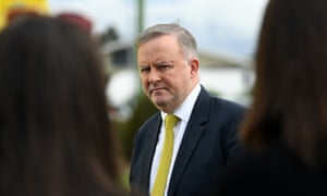 Federal Opposition Leader Anthony Albanese is seen during a press conference next to a major intersection in Brisbane's north, Monday, July 8, 2019. Mr Albanese discussed a proposed federally-funded upgrade to the intersection. (AAP Image/Dan Peled) NO ARCHIVING