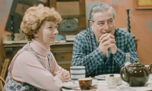 Hilda and Stan Ogden, played by Bernard Youens, in a 1967 episode of Coronation Street