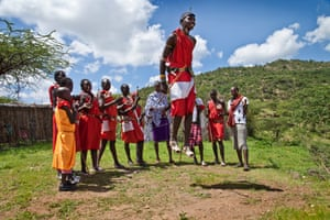 By Dani Bower. This was taken in a village near Borana nature reserve in Kenya. We were invited by one of the Masai Mara villagers to observe one of their rehearsals before a coming of age ceremony. Jumping is part of the tribal tradition; the man who jumps the highest gets to choose the bride he would like to marry.