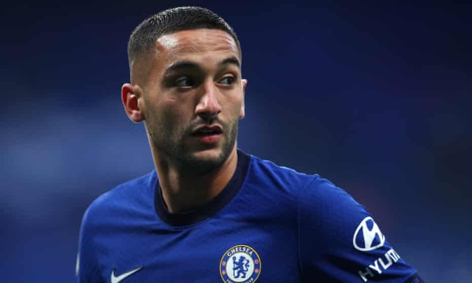 Hakim Ziyech playing for Chelsea against Southampton