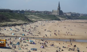People enjoy the sunshine at Tynemouth in North Tyneside. The sunniest place in Britain on Sunday was Boulmer in Northumberland.
