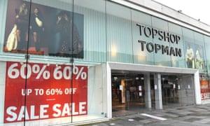 The Topman Topshop store in Brighton