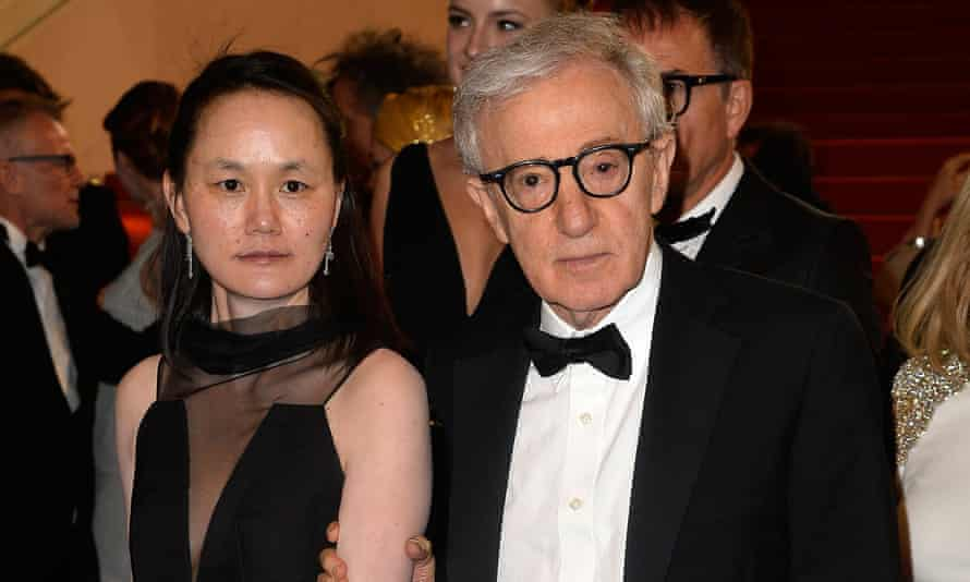 Soon-Yi Previn and Woody Allen attend the premiere of Irrational Man at the Cannes film festival in 2015.