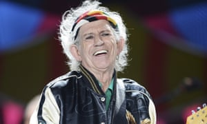 Keith Richards on stage in Cuba.
