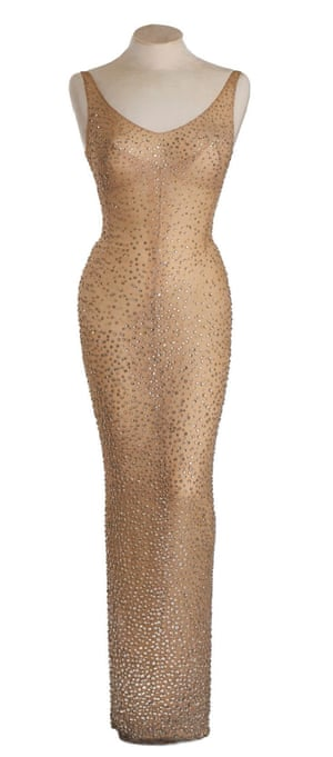 The dress by Hollywood costume designer Jean Louis, worn by Marilyn Monroe, sold at auction for $4.8m.