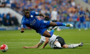 Jeff Schlupp is felled by Darron Gibson and the ref points to the spot again.