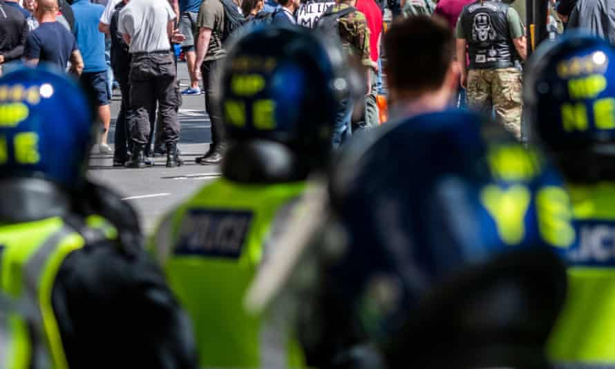 Met police patrolling at protest